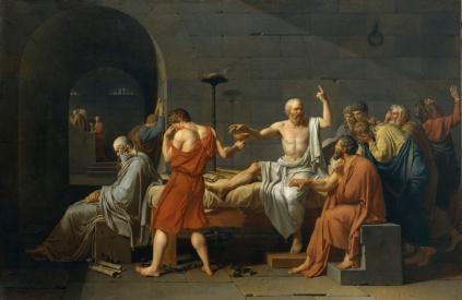 Jacques Louis David: Śmierć Sokratesa