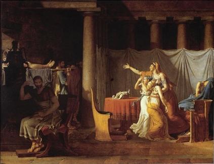 Jacques Louis David: Liktorzy przynoszą Brutusowi ciało syna