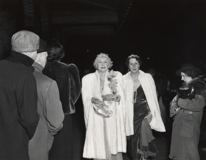 Weegee: Mrs Cavanaugh and friend entering the opera