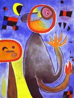 Joan Miro: Ladders Cross the Blue Sky in a Wheel of Fire