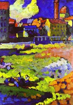 Wassily Kandinsky: Munich-Schwabing z kościołem św. Urszuli