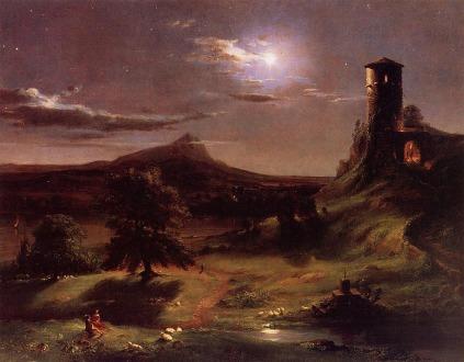 Thomas Cole: W blasku księżyca
