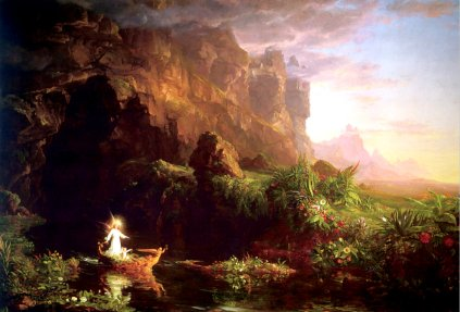 Thomas Cole: The Voyage of Life. Childhood