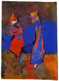 Emil Nolde: Król i tańcząca dziewczyna