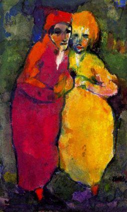 Emil Nolde: Para w czerwieni i żółcieni