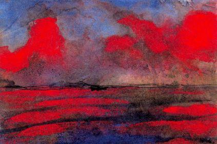 Emil Nolde: Pejzaż w czerwonym świetle