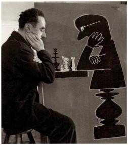 Robert Doisneau: Savignac aux échecs, 1950