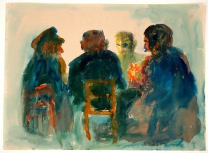 Emil Nolde: Górnicy przy stole