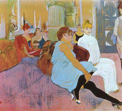 Henri de Toulouse-Lautrec: Salon przy Rue des Moulins