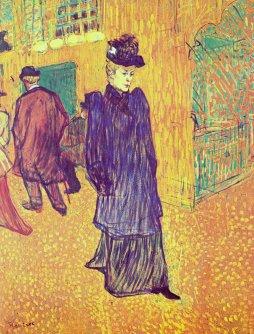 Henri de Toulouse-Lautrec: Jane Avril opuszczająca Moulin Rouge