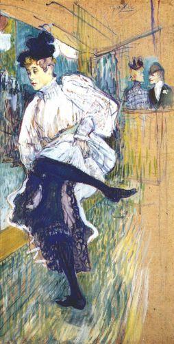 Henri de Toulouse-Lautrec: Tańcząca Jane Avrl