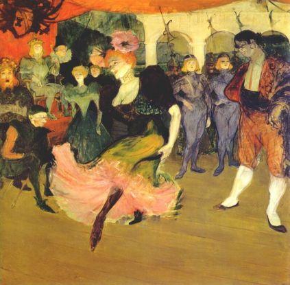 Henri de Toulouse-Lautrec: Marcelle Lender tańcząca bolero