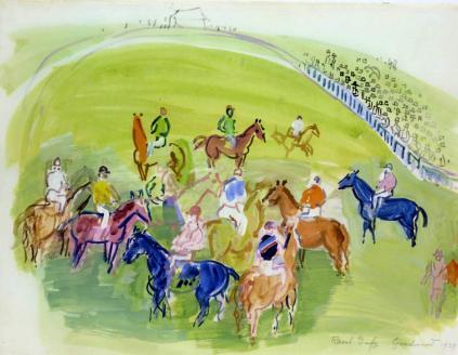 Raoul Dufy: Konie przed biegiem