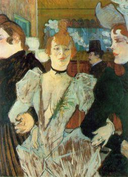 Henri de Toulouse-Lautrec: La Goulue przybywająca do Moulin Rouge