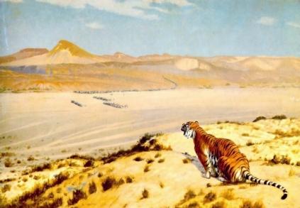 Jean-Léon Gérôme: Tygrys na czatach
