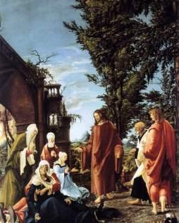 Albrecht Altdorfer: Chrystus opuszczający Matkę