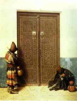 Wasilij Wereszczagin: Przy drzwiach meczetu