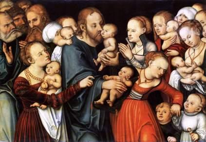 Łukasz Cranach Starszy: Chrystus wśród dzieci