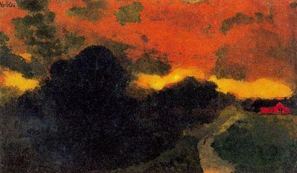 Emil Nolde: Ciemny pejzaż