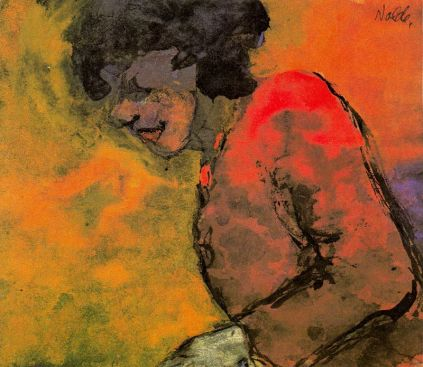 Emil Nolde: Kobieta w czerwonej sukni