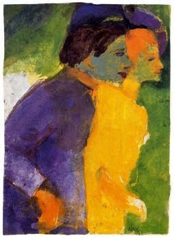 Emil Nolde: Para w fiolecie i żółcieni
