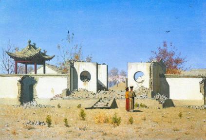 Wasilij Wereszczagin: Ruiny chińskiej świątyni w Ak-Kent