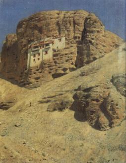 Wasilij Wereszczagin: Klasztor w skale w Ladakh