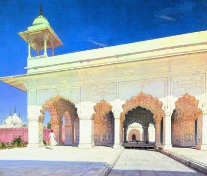 Wasilij Wereszczagin: Sala tronowa Wielkich Mogołów w forcie Delhi