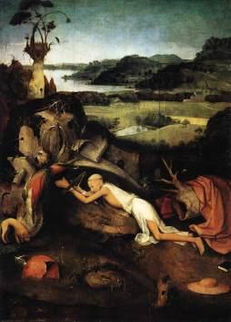 Hieronymus Bosch:  Św. Hieronim na modlitwie